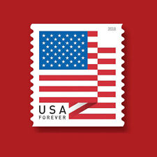 100 USPS Forever Stamps US Star Spangled Banner Flag 2018 Postage 1 Coil USA