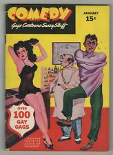 Comedy (1942) #1 Risque Cheesecake Humor Digest Early Bill Wenzel Russ Salo VG+