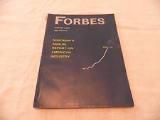 Forbes Magazine:  January 1, 1967: NINETEENTH ANNUAL REPORT ON AMERICAN INDUSTRY