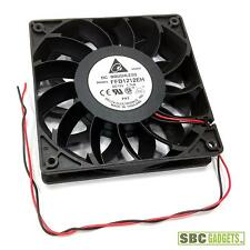 Delta 120x25mm Extreme Hi Fan Case Cooler, Bare Wires (Model: FFB1212EH)