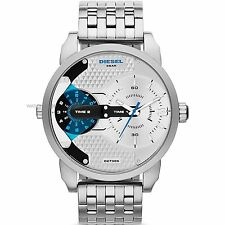 Diesel Mini Daddy Mens Silver Stainless Steel Chronograph Watch DZ7305