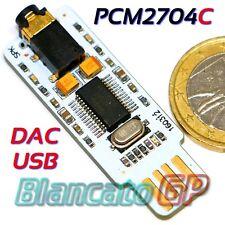 SCHEDA AUDIO ESTERNA USB  DAC TEXAS INSTRUMENTS PCM2704C NOTEBOOK PC PORTATILI