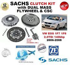POUR VW EOS 1F7 1F8 2.0 TDi 140 bhp KIT EMBRAYAGE 06-08 avec VOLANT MOTEUR CSC