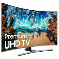 """Samsung Curved 55"""" Inch Class (54.5"""" Diag.) HDR 4K UHD LED LCD TV UN55NU8500FXZA"""