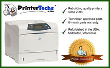 HP Laserjet 4300N Q2432A upgraded with metal swing plate and Long Life Fuser