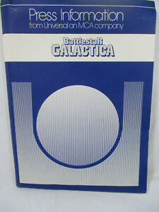 1978 Battlestar Galactica Press Release Info Actor Bios Photos Motion Picture