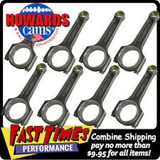 "HOWARD'S GM Chevy LS 6.125"" Forged Billet Connecting Rods 12-pt ARP2000 Bolts"