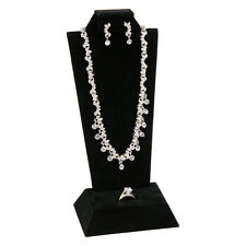 CLASSIC BLACK COMBINATION EARRING PENDANT RING MINI DISPLAY SET JEWELRY DISPLAYS