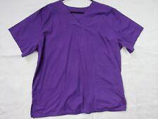 Unbranded Women's Nurse Scrub Uniform Top Shirt Purple