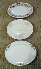 Lot of 3 Mismatched Vintage China Flower Bowls Platters Wallscape Farmhouse
