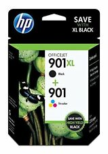 HP 901XL Black + HP 901 Tri-Color Ink Cartridges Genuine Retail Box NEW Sealed