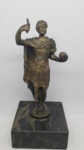 Vintage Bronze Greek Philosopher Statue