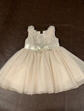 Bonnie Jean 2T Gorgeous Champagne Dress With Cream Sweater
