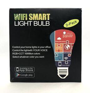Pack of 2 Smart Color Light Bulb WiFi for Amazon Alexa/Google Home Music Sync O