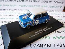 BTCC10T voiture 1/43 IXO atlas BTCC : AUSTIN Mini cooper S #261 1969 Alec Poole