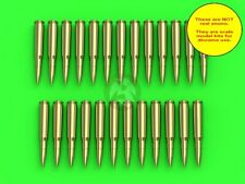 Master 1/16 M2 Browning .50 Cal 12.7mm Machine Gun Cartridges (25 pcs) GM-16-002