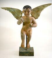 Antiker musealer wunderschöner Altar Engel gut erhalten alter Sammlung Frankreic