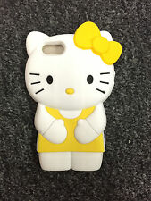 YELLOW  3D Hello Kitty Silicone Soft Cover Case for IPHONE 5/5S