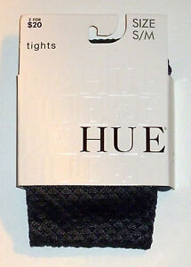NWT Hue Diamond Dot Tights W/Control Top #11821 Color Steel Size S/M