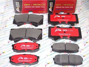 2 Front & Rear Brake Pads Fit LX570 Land Cruiser Sequoia Tundra D1303 D1304