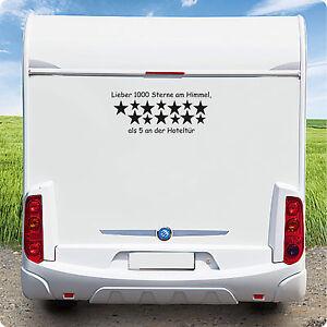 Wohnmobil Caravan Wohnwagen Aufkleber Lieber 1000 Sterne am Himmel.........