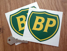 BP COACHLINE SHIELD RACING CAR STICKERS 100mm Pair Petrol Gas Fuel Pump Station