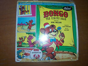 Bongo the Circus Bear 45 RPM Capitol Records,Walt Disney BOZO approved