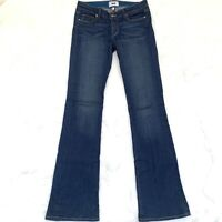 Paige Premium Denim Skyline XL Size 27 Bootcut Dark Blue Light/Stretchy Jeans
