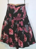 Charlotte Russe Women's Black Pink Floral Sleeveless Dress Size Small