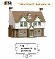 Superquick Card Kit - OO/HO Gauge- Series B No.24 - B24 - Greystones Farmhouse