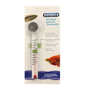 AQUARIUM THERMOMETER    ::: INTERPET :::     Easy Read Fish Tank Thermometer