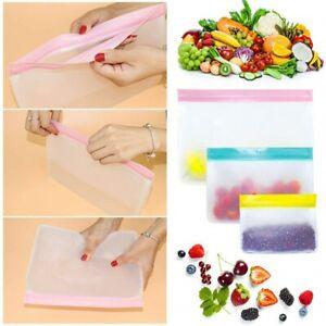1pcs FOOD STORAGE BAG Set Reusable Silicone Liquid Fruit Freezer Airtight Seal