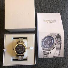 Reloj inteligente MKT5024 plata de acceso Michael Kors enlace Correa RRP £ 389 Android y IOS