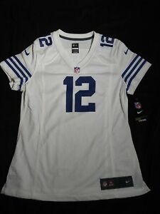 $95 Nike On Field Colts Andrew Luck Women's Jersey White Sz M NFL (477898-101)