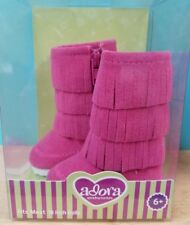 "Adora 18"" Friends Hot Pink Fringe Boots  -Fits Most 18"" Dolls- New in Box"