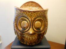 Gorgeous Vintage McCoy USA Owl Cookie Jar Brown #219 Beautiful !!