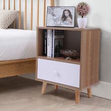 Bedroom Bedside Furniture Nightstand End Table Shelf with Drawer