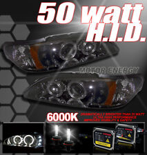 94-98 MUSTANG LED SMOKE PROJECTOR HEADLIGHTS+50W 6K HID