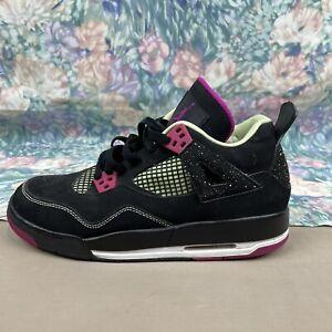 Jordan 4 Retro 705344-027 Black Fuchsia GS Size 7Y/8W EU40 Black Pink
