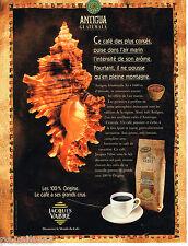 PUBLICITE ADVERTISING 055  1994  JACQUES VABRE  le café  ANTIGUA du GUATEMALA