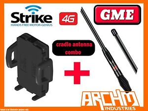 STRIKE UNIVERSAL CAR CRADLE FOR ALL SMART PHONES PRO + GME 7DBI ANTENNA