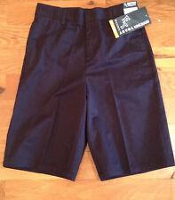 Nwt French Toast School Uniform Flat Front Navy Blue Shorts Boys 14 Adj Waist
