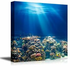 "Canvas- Coral Reef under the Ocean/Sea|Modern Home Decor Canvas Prints-24"" x 24"""