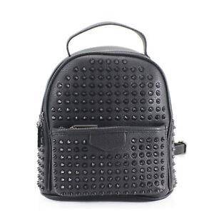 Ladies Studded Pattern Backpack Women Girls Gym School Travel Bag 1083-994