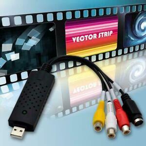 Video Capture Card Converts Video Audio VHS to Digital 8 DVD For Windows K U7Z7
