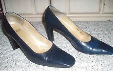 CHARLES JOURDAN Paris Leather High Heel Dress Shoes~Blue~Size 8 1/2