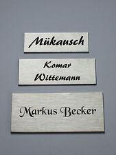 Edelstahl Türschild, Namensschild, Klingelschild inkl.Laserbeschriftung 3 Größen
