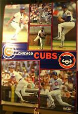 "Rare 1990 Chicago Cubs Starline Huge 57 x 42"" Poster Sandberg Maddux Grace"