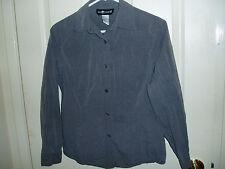"SAG HARBOR Gray Blouse Shirt Top Sz 8 - Grey ""Fitted"" S Small M Medium FREE SHIP"