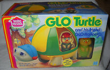 #7525 NRFB Vintage Hasbro Preschool Glo Turtle with Friend Glo Hopper Figure